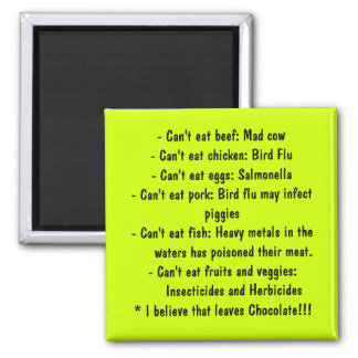 Causes - Healthy Eating 2 Inch Square Magnet