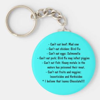 Causes - Healthy Eating Basic Round Button Keychain