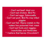 Causes - Healthy Eating Postcard