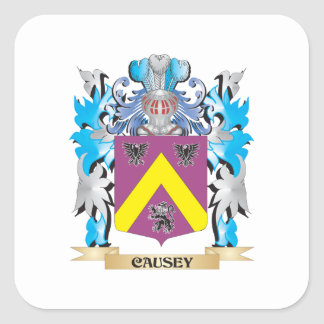 Causey Coat of Arms - Family Crest Square Sticker