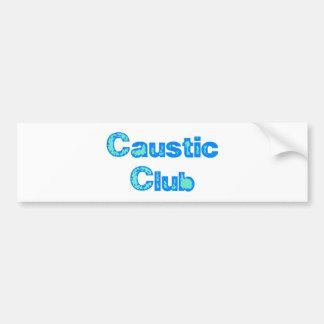 Caustic club etiqueta de parachoque