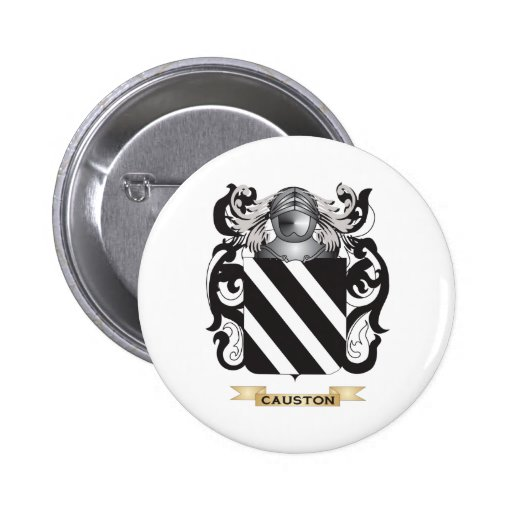 Causton Coat of Arms Pinback Button