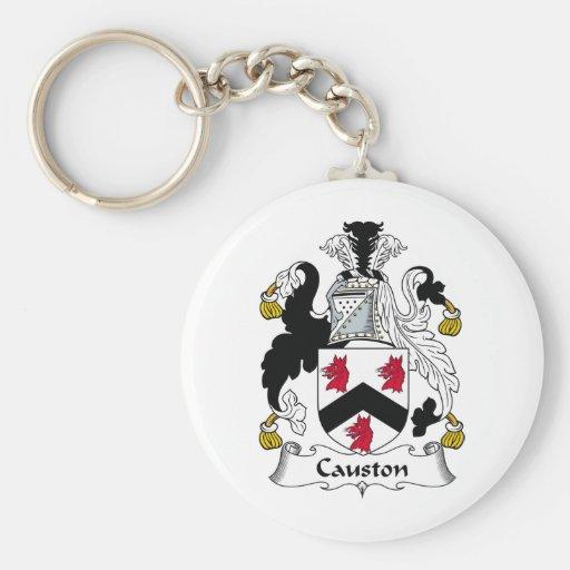 Causton Family Crest Key Chain