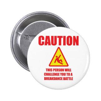 Caution 2 Inch Round Button