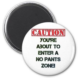 Caution! 2 Inch Round Magnet