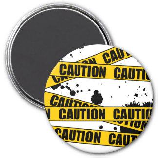 Caution! 3 Inch Round Magnet