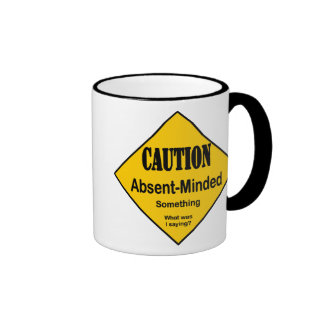 Caution Absent Minded Ringer Coffee Mug