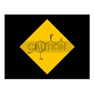 Caution: Adrenaline. Postcard
