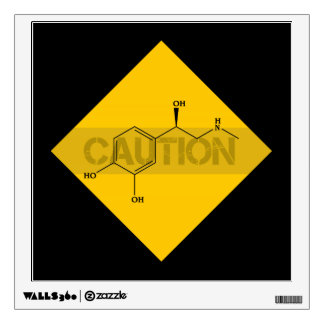 Caution: Adrenaline. Wall Decal