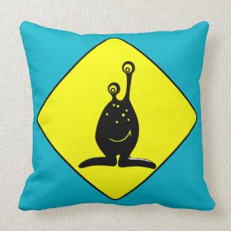 Caution Alien Pillows