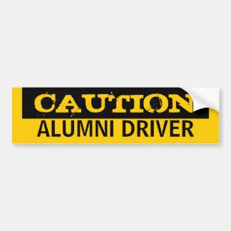 Caution ALUMNI DRIVER Bumper Sticker