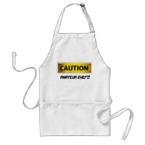Caution amateur chef adult apron