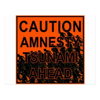Caution Amnesty Tsunami Ahead Postcard
