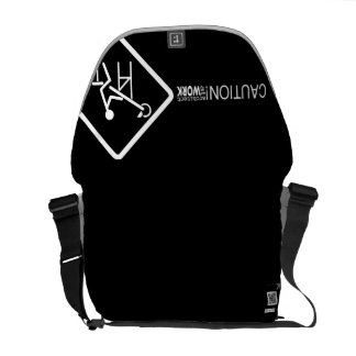 Caution Architect at Work Courier Bag