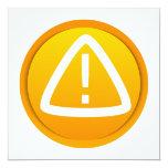 Caution Attention Symbol Personalized Invitations