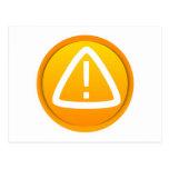 Caution Attention Symbol Post Card