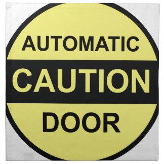 Caution Automatic Door Cloth Napkin