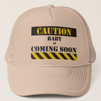 Caution Baby is coming soon cap