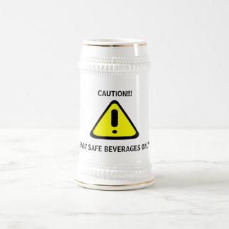 Caution Baby Safe Beverages Beer Stein