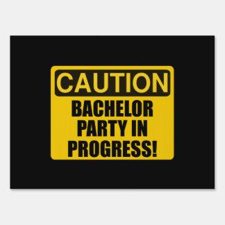 Caution Bachelor Party Progress Sign