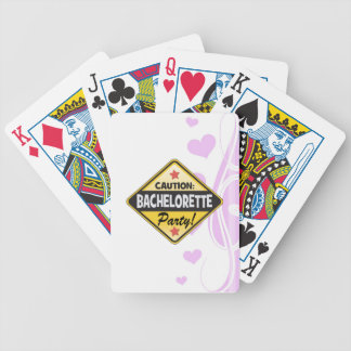 caution bachelorette party yellow warning sign fun bicycle playing cards