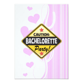 caution bachelorette party yellow warning sign fun invitations