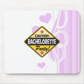 caution bachelorette party yellow warning sign fun mouse pad