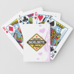 caution bachelorette party yellow warning sign fun bicycle poker deck