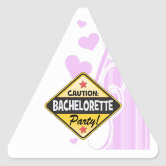 caution bachelorette party yellow warning sign fun triangle stickers
