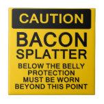 Caution Bacon Splatter Ceramic Tiles