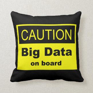 Caution Big Data On Board Throw Pillow