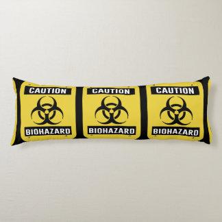 Caution - Biohazard Symbol Body Pillow