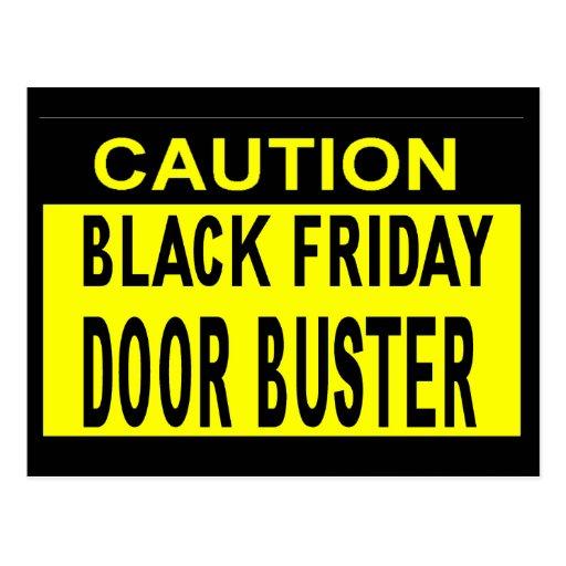 Caution_Black Friday Door Buster!! Postcard