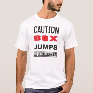 Caution Box Jumps In Progress - Funny WOD T-Shirt