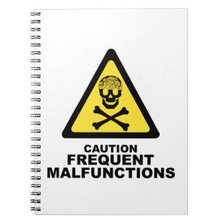 Caution Brain Notebook