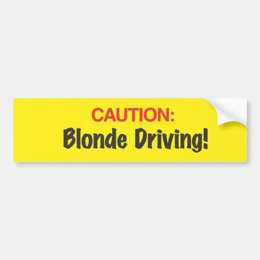 Caution Bumper Sticker