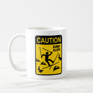 CAUTION: Bunny Slope - Funny Ski Warning Sign Coffee Mug