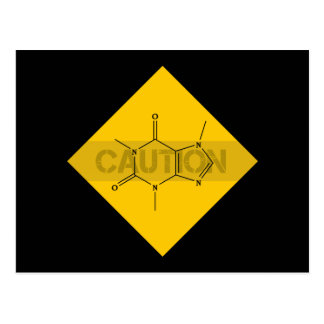 Caution: Caffeine Postcard
