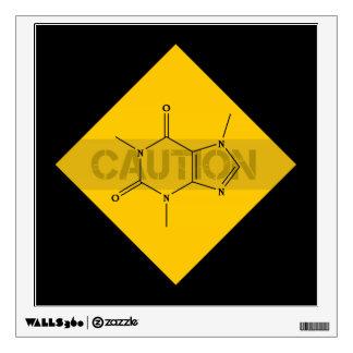 Caution: Caffeine Wall Sticker