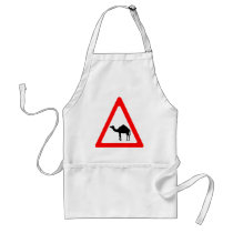 Caution Camel Crossing Traffic Sign Adult Apron