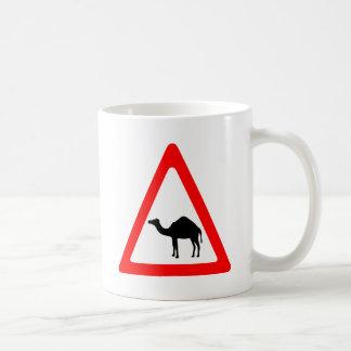 Caution Camel Crossing Traffic Sign Coffee Mug