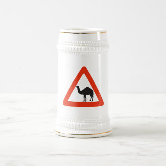 Caution Camels, Traffic Sign, United Arab Emirate Beer Stein