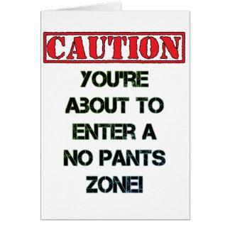 Caution! Card