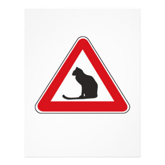 Caution Cats, Traffic Sign, Italy Custom Letterhead
