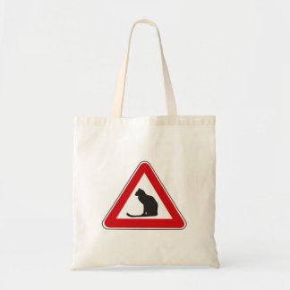 Caution Cats, Traffic Sign, Italy Tote Bag