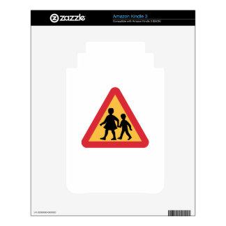 Caution Children, Traffic Sign, Sweden Skin For Kindle 3