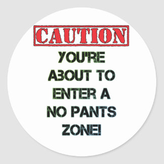 Caution! Classic Round Sticker