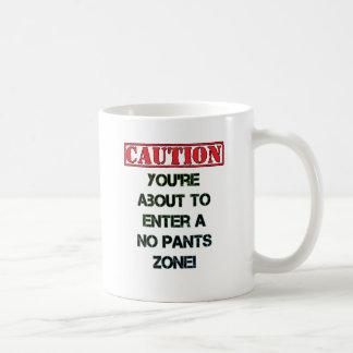 Caution! Classic White Coffee Mug
