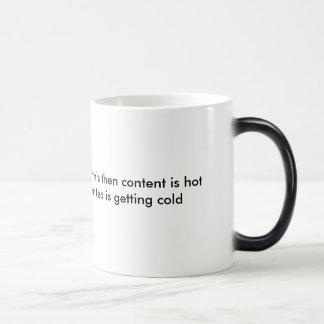 CAUTION: color changing mug (tea)