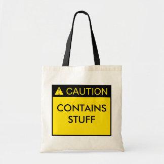 Caution: Contains Stuff Bag